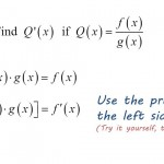 Deriving the Quotient Rule